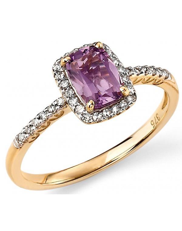 9Ct blanc or Ring Diamond 0.15 Carat