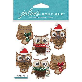 Jolee's Boutique Dimensional Stickers-Pinecone Owl E5021990