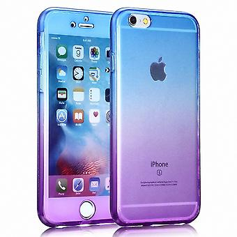 Crystal case cover for Samsung Galaxy S6 blue purple frame full body
