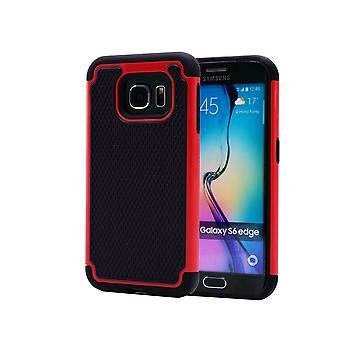 Shock proof case + stylus for Samsung Galaxy S6 Edge (SM-G925) - Red