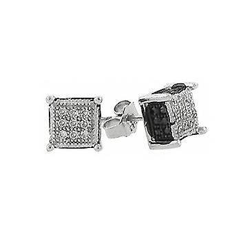 Bk 925 MICRO PAVE earrings - CHICAGO 6 mm silver