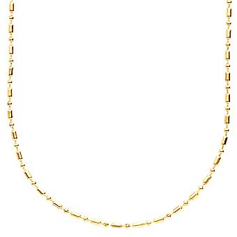 Stainless steel slim 3mm ball chain - 90 cm gold
