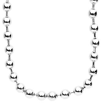 Iced out bling hip hop chain - BALL 8 mm silver