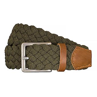 BRAX belts men's belts textile woven belt green 5405