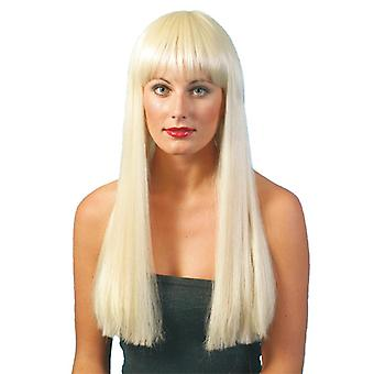 Long wig with bangs beauty luxury long hair wig