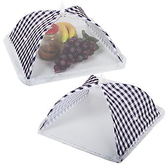 TRIXES 2 X Folding Mesh Food Covers Protection Nets