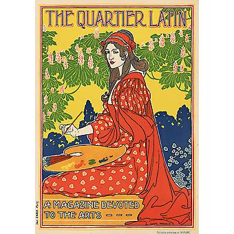 The Quartier Latin magazine Poster Print Giclee