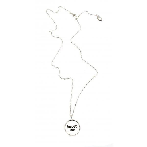 W.A.T Sterling Silver 'Tweet Me' Necklace By Kissika