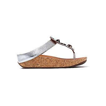 Women's Jeweley Toe-Post Sandals - Silver