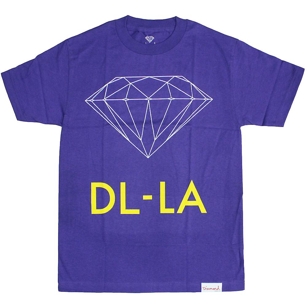 Diamond Supply Co DL-LA T-Shirt paars