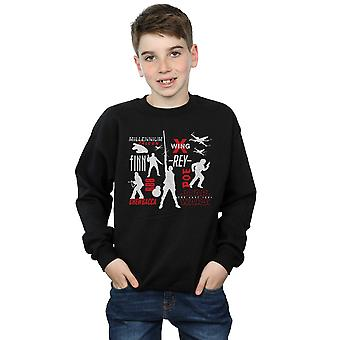 Star Wars Boys The Last Jedi Rebellion Silhouettes Sweatshirt