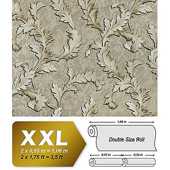 Flowers wallpaper EDEM 9010-38 non-woven wallpaper shaped Baroque-style shiny grey silver green 10.65 m2