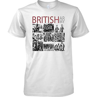 British Army Photo Collage - WW1 and WW2 - Mens T Shirt