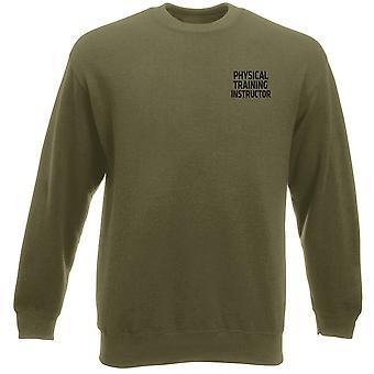 PTI körperliches Training Instructor Text Stickerei Logo - offizielle Schwergewichts-Sweatshirt