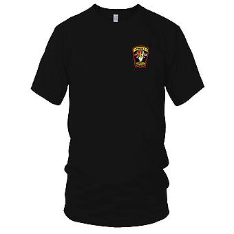 US Army - 3rd Squadron 6th Air Cavalry Aviation Attack Regiment D Troop Embroidered Patch - Mens T Shirt