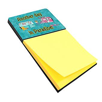 Another Day in Paradise Refiillable Sticky Note Holder or Postit Note Dispenser