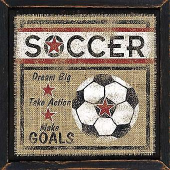 Soccer Poster Print by Linda Spivey (12 x 12)