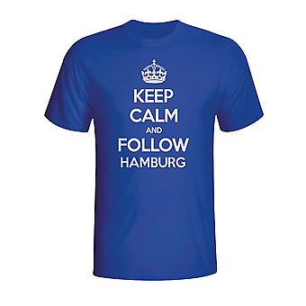 Keep Calm And Follow Hamburg T-shirt (blue)