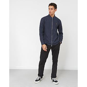 Farah Cromwell Zip Through Shirt Navy