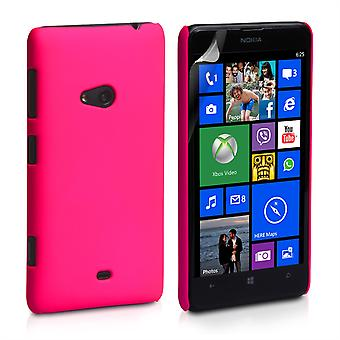 Yousave Accessories Nokia Lumia 625 Hybrid Hard Case - Hot Pink