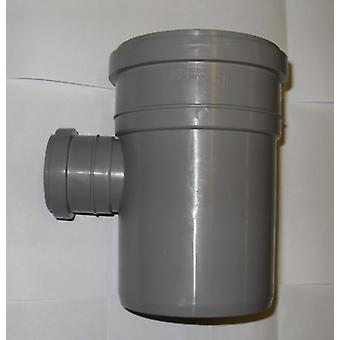 Erde-Rohr 110 mm Zweig mit 90 Grad 50 mm Einlass - Push-Fit Kanalisation - grau