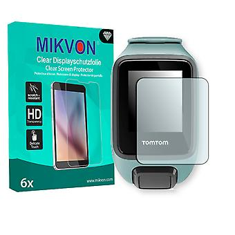 TomTom Spark 3 Screen Protector - Mikvon Clear (Retail Package with accessories)