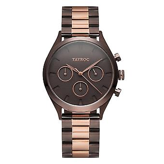 Tayroc Ty58 Monte Carlo Rose Gold & Brown Stainless Steel Ladies Watch