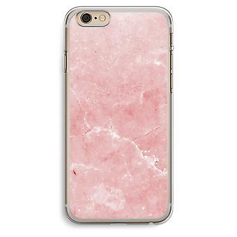 iPhone 6 Plus / 6S Plus Transparent Case (Soft) - Pink Marble