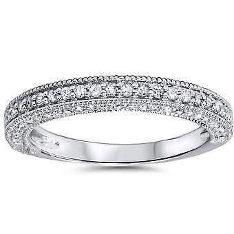 3 / 4ct anillo 14K oro blanco