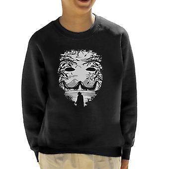 Guy Fawkes maske Collage barneklubb Sweatshirt
