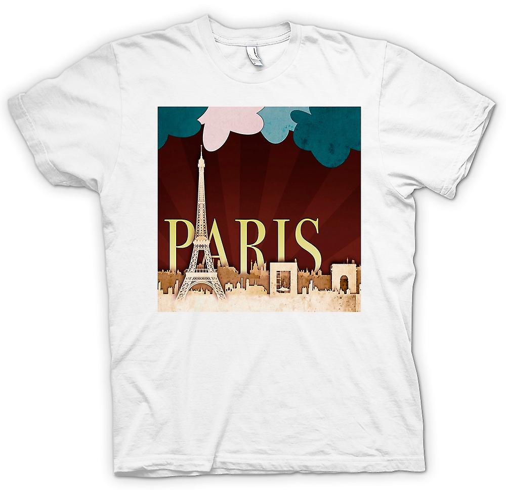 Womens T-shirt - Cool Retro Paris Poster