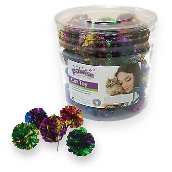 Pawise Cube Toys Cat Pawise-Ball Plast.60 Pieces  (Cats , Toys , Balls)
