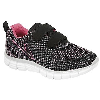 Girls Kids Superlight Weight Touch Fastening Jogger Mesh Trainers Shoes
