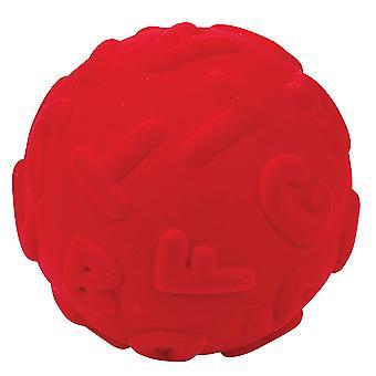 Rubbabu Soft Plush Alphalearn Uppercase Learn Ball, Educational