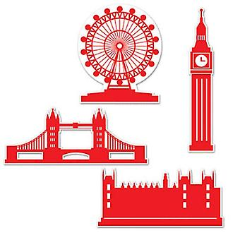 London-Silhouette Pappfiguren
