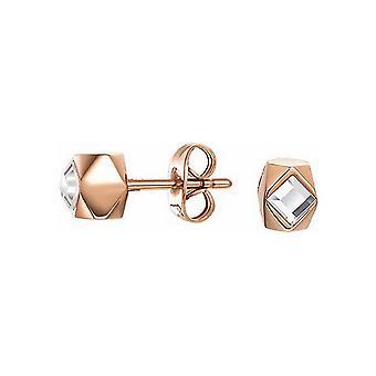 ESPRIT women's earrings stainless steel JW52891 Rosé cubic zirconia ESER12761C000