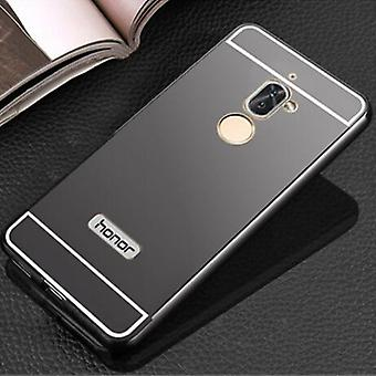 Aluminium bumper 2 pieces with cover black for Huawei honor 6 X bag sleeve case