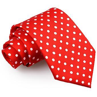 Czerwone kropki klasyczny krawat
