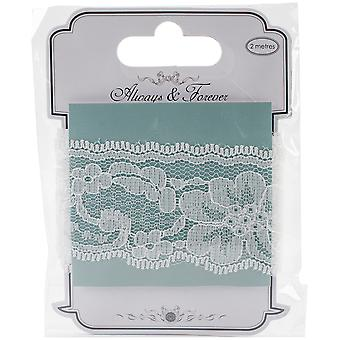 Craft Consortium Always & Forever Lace Ribbon 2M-Lily