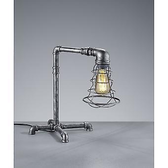 Trio Lighting Gotham Vintage Antique Silver Metal Table Lamp