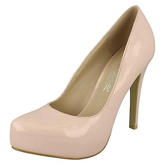 Ladies Anne Michelle Patent Court Shoes F9775