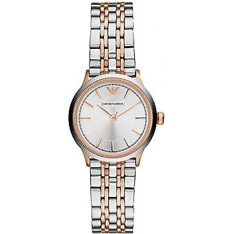 Armani Watches Ar1827 Ladies Two Tone Gold & Silver Watch