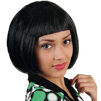 Lola negro Bob peluca de pony de pelo corto