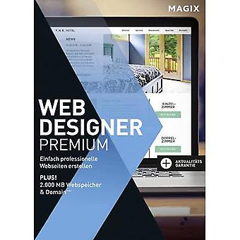 Magix Web Designer Premium Full version, 1 license Windows Website design
