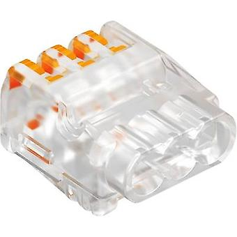 OBO Bettermann 1791 Connector clip flexible: 0.2-2.5 mm² rigid: 0.2-2.5 mm² Number of pins: 3 1 pc(s) Transparent-orange