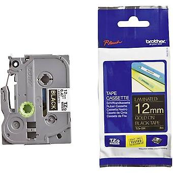 Labelling tape Brother TZe-334 Tape colour: Black Font colour: Gold 12 mm 8 m