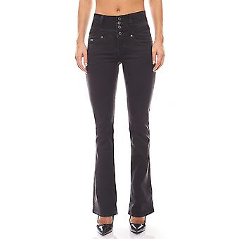 Arizona High Waist Bootcut jeans with stretch insert short size black