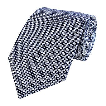 Tie tie tie tie 8cm blue gray and white checkered Fabio Farini