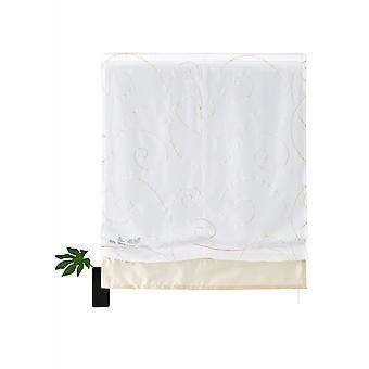 My home Raffrollo »Campinas« transparent Seidenoptik Kringel Klettband sand