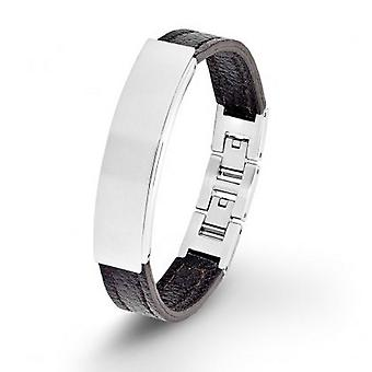 s.Oliver jewel mens leather bracelet stainless steel SO1285/1 - 9070732